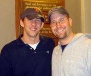 Michael Phelps and Rabbi Jason Miller
