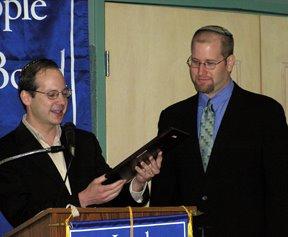 Stuart Rabner and Rabbi Jason Miller